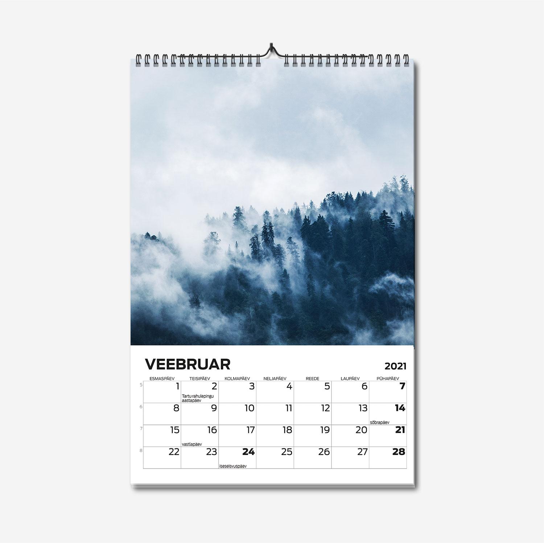 A3 spiraalköites suure pildiga seinakalendri trükk - oma disainiga kalender